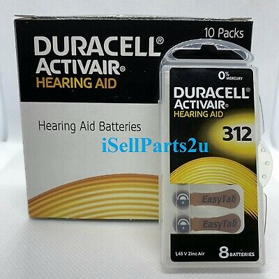 New Duracell Hearing Aid Batteries Size 312 Fast shipping Choose from 32 to 240