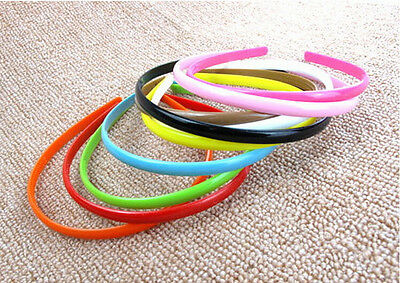 Candy Color Plastic Hairbands Simple Hair Accessory Teeth Headbands 8mm Wide P0C