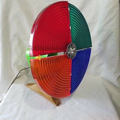 Vintage Spartus Motorized Color Wheel For Aluminum Christmas Tree 12