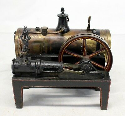 Ornate STEAM ENGINE ~ EARLY Example ~ COLLECTIBLE Cast Iron / Brass PINSTRIPED