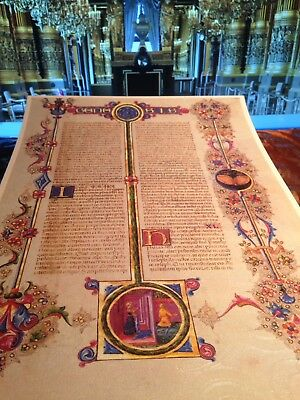 Illuminated Manuscript Genesis Bible Borso d'Este. GIFT COLLECTION