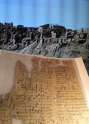 3Rd Century Papyrus  Amherst - Epistle To The Hebrews 1:1    New