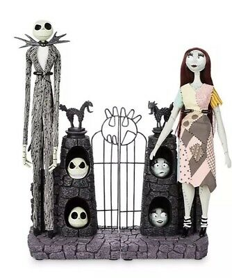 Disney Nightmare Before Christmas Jack Sally Limited Edition Dolls Set Boxed