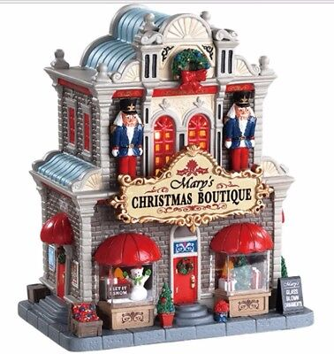Lemax - Mary's Christmas Boutique - #85344MC ~ Lighted Interior Scenes ~ NRFB!