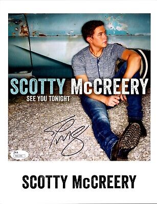 Scotty McCreery Autographed Cardstock Photo #2 JSA