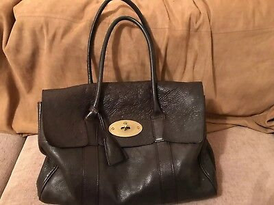 59b6631f67 Pre-owned Genuine Mulberry Bayswater Handbag In Chocolate Brown with Dust  Bag