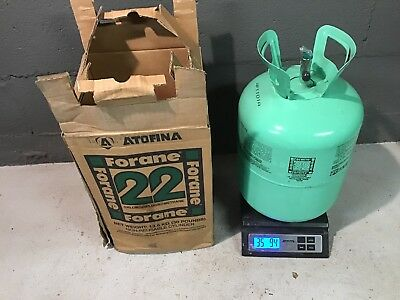 NEW Atofina Forane 22 Freon Refrigerant (30 pounds) FULL Factory Sealed