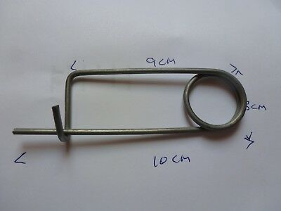 New Industrial Spring Loaded Steel Safety Shackle Pin Clip 4""