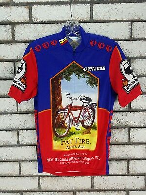 7270484cedd Pearl Izumi Fat Tire Amber Ale New Belgium Brewing Co Cycling Jersey Size  Small