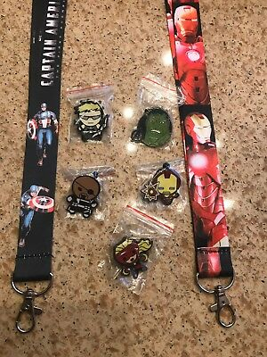 Disney MARVEL Avengers Pin lot with 2!! lanyards