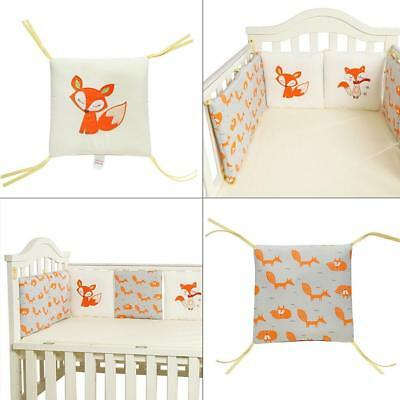 Baby Crib Bumper Breathable Cotton 6 PCS Safe Cot Bed Bumpers Nursery
