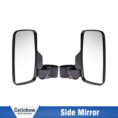 "2X UTV Side View Mirror 1.6"" - 2""  for Offroad Break-Away Large Wide View Race"