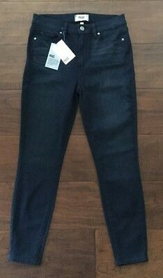 NWT Women's PAIGE High Rise Skinny Ankle Hoxton Jeans in Kae Wash