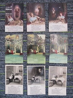 WW1 Bamforth Song Cards (3) Daddy I/The Holy City/It Is Nothing To You fc71-3