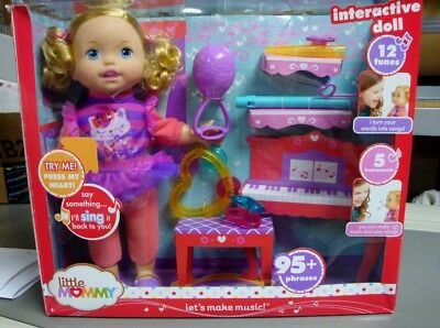 Little Mommy Let's Make Music Interactive Singing Baby Doll Says 95+~ New