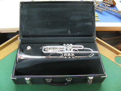 Bach TR-300 Trumpet - Silver Plate - Oversized Hard Case and Bach 7C MP