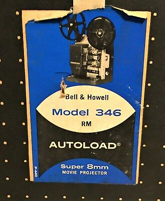 BELL & HOWELL 346A Super Eight (8) projector working With Original Box