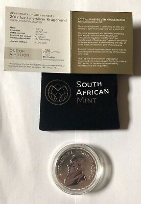 2017 Silver Krugerrand 50th Anniversary Privy (Premium Uncirculated)