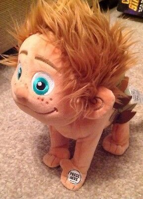 "Spot Cave Boy Soft Plush Toy 9"" Disney Store Authentic The Good Dinosaur Rare"