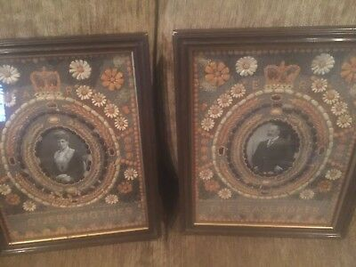 Pair 2pc vintage British Monarch King Edward & Queen Alexandra ALL SEED picture