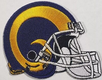Los Angels Rams~Helmet~Embroidered Iron On Patch~Free Shipping from the USA~