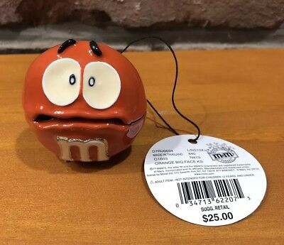 Orange M&m Monet Jewelry Trinket Box Big Face Enameled New $25