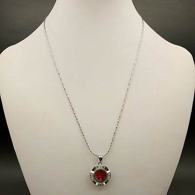 Chinese Handmade Exquisite Rotation Mode Fashion red Necklace & Pendant