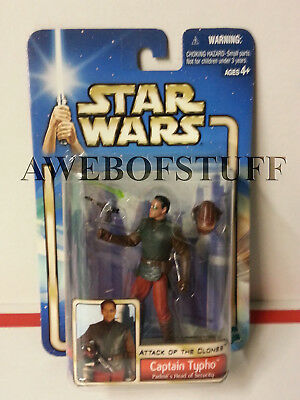 Star Wars AOTC CAPTAIN TYPHO (Padmé's Head Of Security) 2002 Action Figure