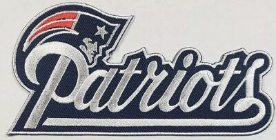 New England Patriots Large~Iron On Embroidered Patch~Free Shipping From U.S.A.~