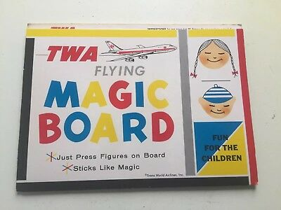 TWA Flying Magic Board Complete Colorforms