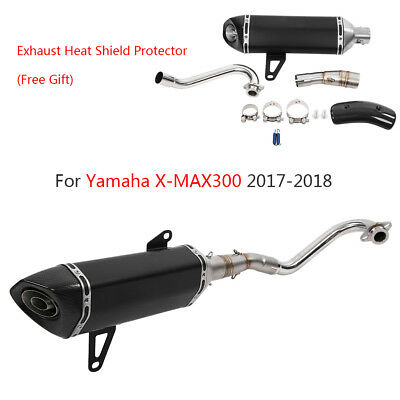 Carbon Fiber Motorcycle Full Exhaust Muffler Pipe Link For Yamaha X-MAX300 17-18