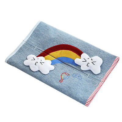 Cartoon Travel Tissue Holder Cotton Linen Fabric Pocket Tissue Pouch Cover H6O4