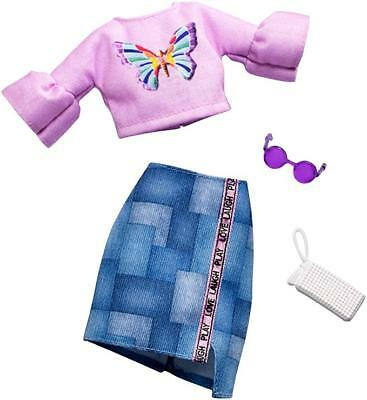 New 2018~2019 Barbie Complete Look Butterfly Top & Patchwork Skirt Fashion Pack