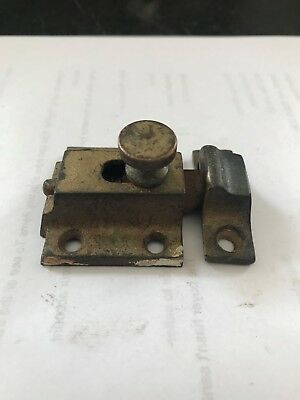 Antique Shabby Cast Iron Arts Craft Victorian Cabinet Cupboard Door Latch Lock
