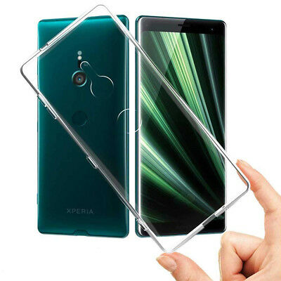 Ultra Thin TPU Silicone Phone Case Cover Transparent for Sony Xperia XZ3 6inch