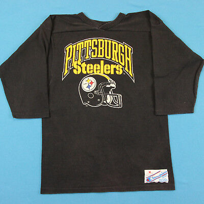 80s PITTSBURGH STEELERS Vintage T Shirt ~ Men XS/S │ Football Jersey Raglan Tee