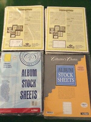 Stamp Stock sheets. 7 packets of 10 and 2 packets of 12.