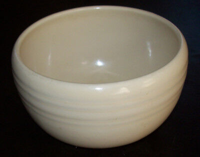 Antique Coors Pottery Thermo Porcelain Bowl~Banded~Ivory