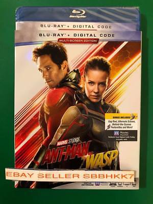 ANT-MAN AND THE WASP Blu Ray + Digital HD & Slipcover Brand New Free Shipping