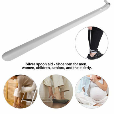USA Long Handled Shoe Horn Extended Lifter Stainless Steel With Hanging Hole New