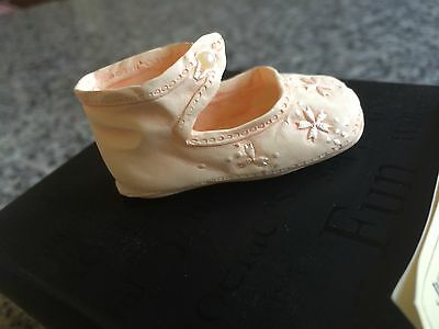 NEW Just the Right Shoe by Raine - Peaches 'n' Cream 25137 COA Baby Shower Gift