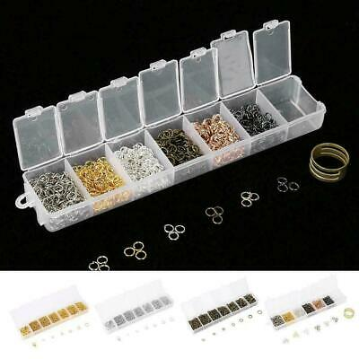 Open Jump Rings Round Oval Split findings Craft Jewelry DIY Findings Kit 1 Box