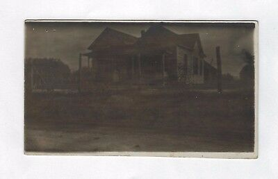 OLD VINTAGE ANTIQUE REAL PHOTO POSTCARD RPPC of WINDY DUST BOWL FARM HOUSE