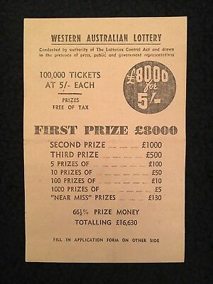 Antique Western Australian Lottery Ticket