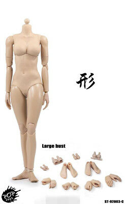 POPTOYS 1/6 Female Suntan Large Chest Body Flexible Figure Model 92003C