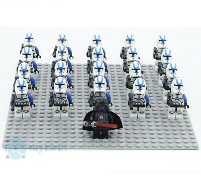 21PCS Star Clone Magma Crimson Stormtrooper Building Blocks Mini Figure DIY Toys