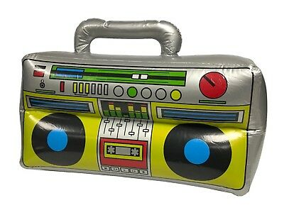 Inflatable Blow Up Radio Rap Boom Box Fancy Dress Christmas Party UK STOCK