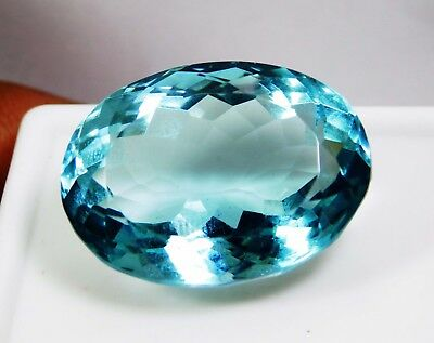 38.35 Cts. Natural Oval Cut Transparent Ocean Blue Aquamarine Loose Gems. 1511