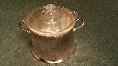 Vintage Silver Plated  Tureen With Lid And Glass Pyrex