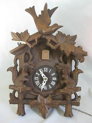 parts / repair vintage German cuckoo clock Regula West Germany squirrel detail
